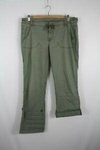 The North Face Women's Green Roll Up Hiking Pants Size 12 Drawstring Waist
