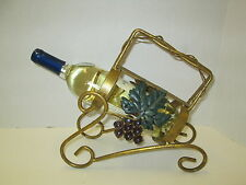 Brass Decorative Wine Bottle Holder, Vintage Style