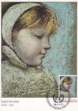 Maximumkarte - Pablo Picasso - Maia 1938 FDC Vereinte Nat. Genf 19.11.71