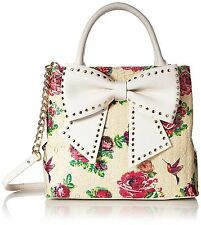 Betsey Johnson Hopefully Romantic Floral Bow Bucket Bag