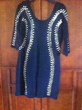 Punkyfish Black Dress Silver Studs Size 14 New With Tags