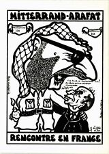 CPA Lardie caricature - Mitterand-Arafat rencontre en France (304248)