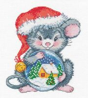Counted Cross Stitch Kit OVEN - Little mouse with a ball