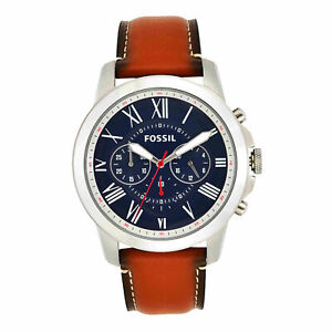 Brand New Fossil Men's Grant Stainless Steel Quartz Chronograph Watch FS5210IE