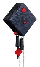 Black Forest Modern Art Cuckoo Clock Rhombus black NEW