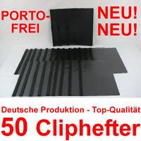 50 Cliphefter Bewerbungsmappen Klemmhefter - Schwarz - Mappen für Bewerbung