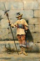 Guardabassi Italian, Portrait of a Gentleman Soldier, Signed Antique Painting