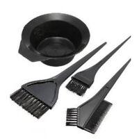 4PCS Hair Dye Colouring Bleach Bowl Comb Brush Tint Tool Set Hairdressing Salon