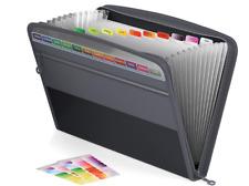 Actfaith Expanding File Folder With Zipper Closure 13 Pockets Expanaccordion