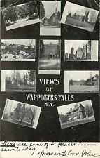 c1906 Postcard; Multi-View Sights of Wappingers Falls NY Dutchess County Posted