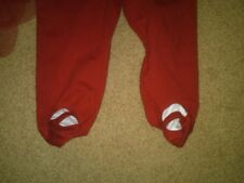 NWT GIRLS FANCY CHRISTMAS DRESS OKIE DOKIE SANTA FOOTED PANTS CUTE! 0-3 MONTHS