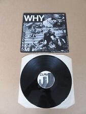 """DISCHARGE Why CLAY 12"""" RARE 1981 UK ORIGINAL 1ST PRESSING 10 TRACK MINI ALBUM"""