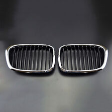 2 X avant Chrome Calandre Noire Grille pour 97-03 BMW E39 Séries 5 525i 530i