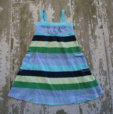 GAP Outlet MIX AND MATCH Blue Green Multi Striped Side pocket Knit Dress XS 4 5