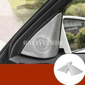 Matte Car Door Audio Speaker Cover Trim 2pcs For Benz C Class W204 2007-2013