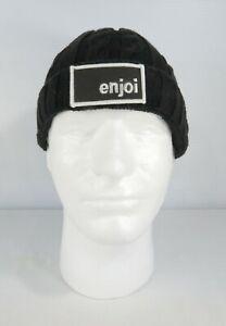 ENJOI skateboarding beanie, black with logo, one size, 100% cotton, NOS
