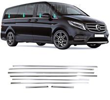 Chrom Fensterleisten 8 tlg EDELSTAHL Mercedes VITO W447 Kurzer / Langer Radstand