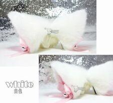 Party Halloween Cat Fox Ears Headband Costume Fur Anime Neko Cosplay Hair Clip
