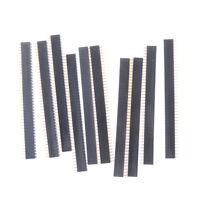 10Pcs 2 X 40 2.54Mm Gold Double Row Female Pin Header 40P JD LSPUK T prSFHWC