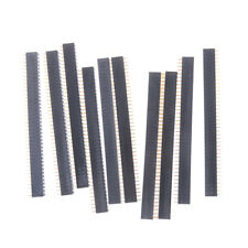 10PCS 2 x 40 2.54mm Gold-plated Double Row Female Pin Header 40P