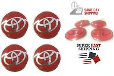 4x68mm Wheel Rim Center Cover Hub Cap Badge Emblem Decal Sticker for Toyota Red