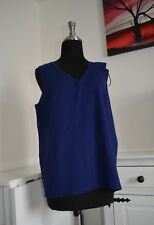 Marks and Spencer Blue Knitted Tanktop/Tunic. Size XL