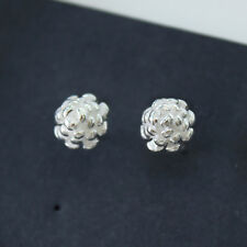 925 Sterling Silver Pine Cone Earrings Acorn Pine Cone Silver Studs Earrings