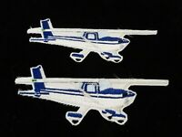 TWO Vintage Patches:  Cessna Single Engine Aircraft
