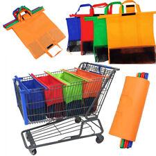 Supermarket Trolley Non-Woven Shopping Bag Reusable Grocery Trolley Bag Portable