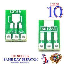 10x À faire soi-même SOT89 to DIP SOT223 Board Converter PCB Adaptateur pitch Pin 2.54 mm