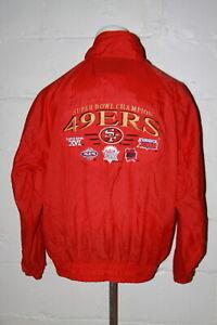 VTG Logo 7 San Francisco 49ers Super Bowl Champions Windbreaker Jacket Sz L