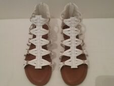 Candie's Women's Gladiator Style Sandals   Size 6M   White  (CT005K)