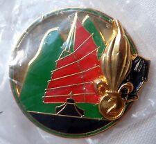 Insigne Légion Étrangère ORIGINAL 2° REG GÉNIE 4° COMPAGNIE Numéroté FFL BADGE