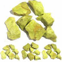 100g Natural Bulk Lemon Stone Crystal Raw Gemstone Rock Healing Specimen Reiki