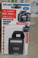 CANON EOS 350D DSLR CAMERA LCD HOOD AND SCREEN PROTECTOR BNIB