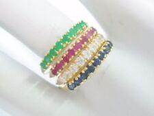 Anelli di lusso con gemme tondi smeraldo zircone