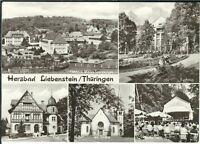 Ansichtskarte Bad Liebenstein - Sanatorium, Post, Kirche, Kurhaus, Kurkonzert sw