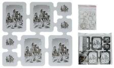 4er Set Foto Bilderrahmen & Wand Organizer 40 x 40 cm + Kreis Ringe Heim