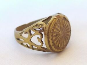 Ancient Ring Bronze Vintage-Antique Roman Style Old Artifact Very Rare Jewelry