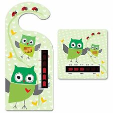 Baby Owl Room Thermometer Hanger & Owl Bath Thermometer - Moving Line Technology