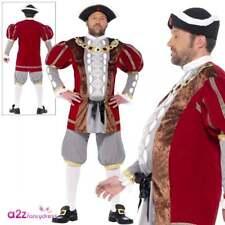 Mens King Henry VIII 8th Costume Royal Medieval Historical Tudor Fancy Dress