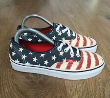 VANS AUTHENTIC USA FLAG WOMENS TRAINERS SIZE 5 EUR 38 WORN ONCE