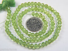 Premium Natural Peridot Gemstones Microfaceted Small Round Beads Light Green 3mm