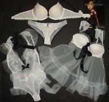 Victoria's Secret 32D,34B BRA SET+34B,34C BABYDOLL+TEDDY WHITE BLACK Bridal I DO
