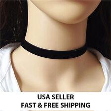 Black Red Velvet Choker Ribbon Necklace Gothic Handmade Retro Burlesque Jewelry