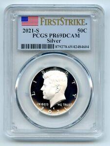 2021 S 50C Silver Kennedy Half Dollar PCGS PR69DCAM First Strike