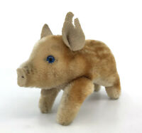 Steiff Dalle Young Wild Boar Pig Mohair Plush 10cm 4in 1960s no ID Vintage