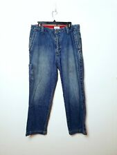Dockers Mens W34 L30 Blue Denim Relaxed Fit Jeans 6 pocket Vintage Cargo Style