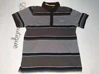 Ben Sherman Mens Large Short Sleeve Striped Button Snap Polo