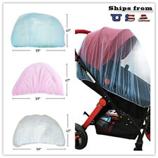 "Baby Mosquito Insect Netting For Stroller, 59""x47"" with Blue Pink Jingle Be"
